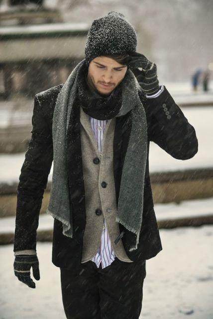 roupas estilosas masculinas para dias frios