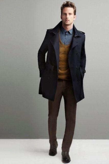 roupas estilosas masculinas para o inverno e trabalho