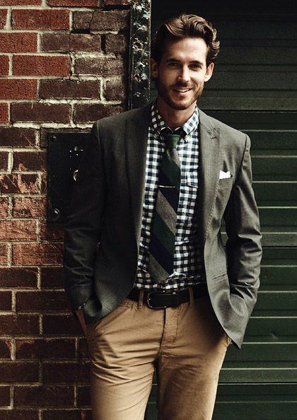 roupas estilosas masculinas com camisa social xadrez