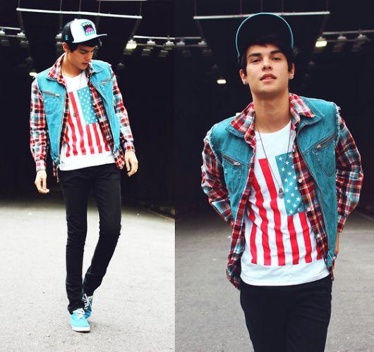 roupas masculinas estilosas com estampas