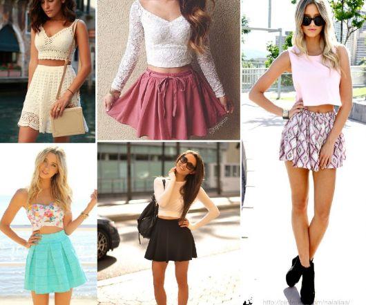 SAIA COM CROPPED: dicas para usar e looks muito lindos!