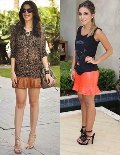 2 modelos de saia colorida