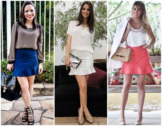 3 looks com saia flare colorida