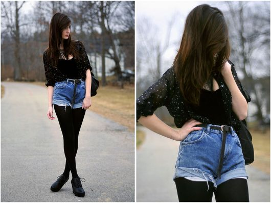 short jeans inverno