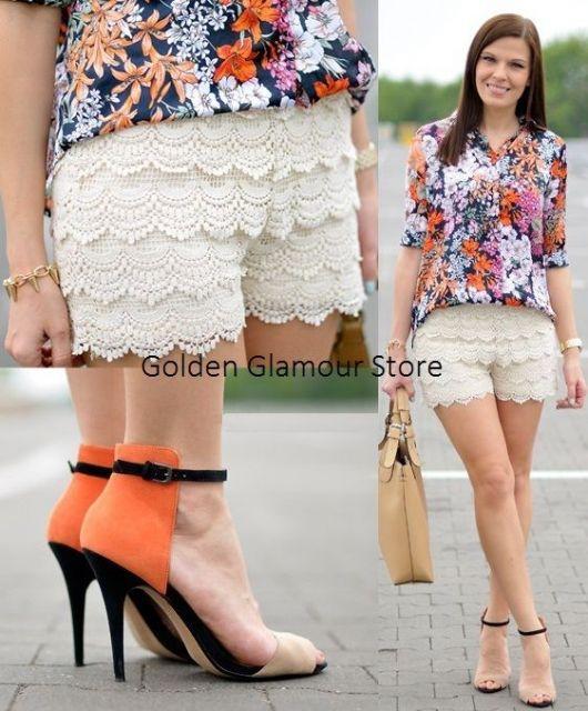 short de renda blusa floral