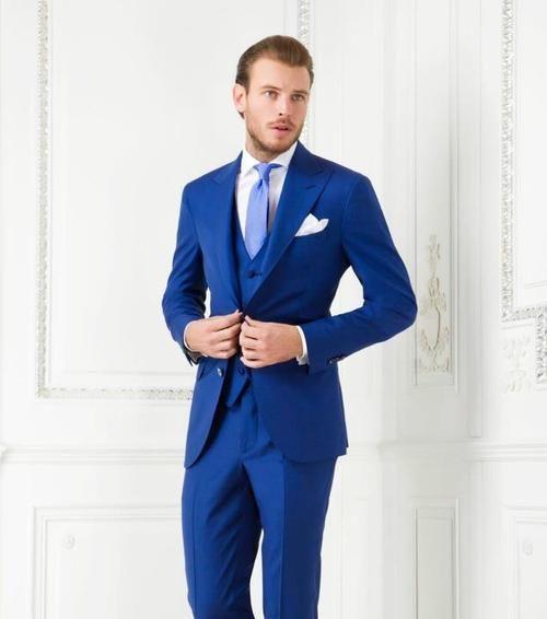 slim fit azul com colete