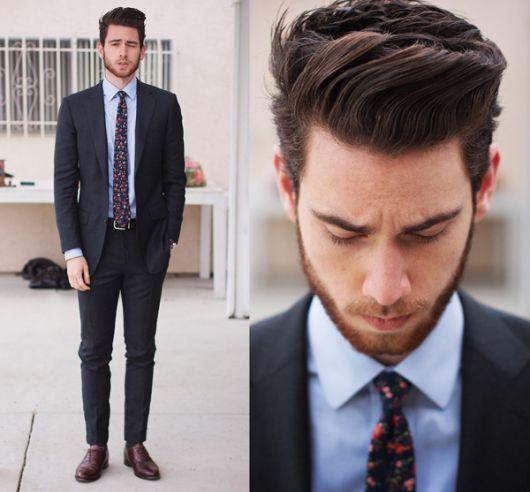 slim fit com gravata slim