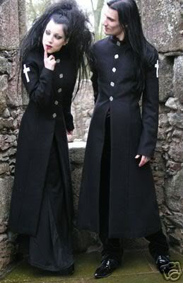 sobretudo gótico masculino metal
