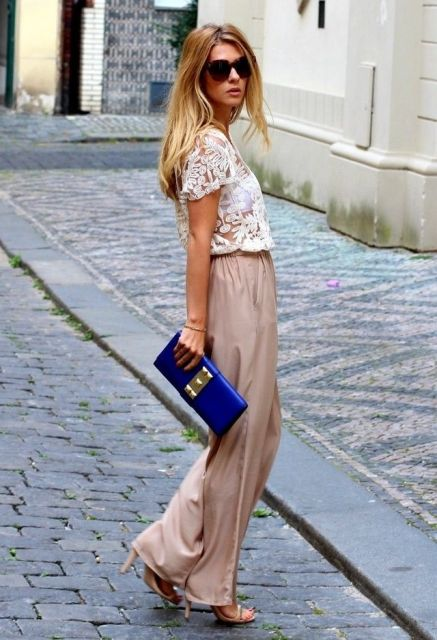 street style com calça flare