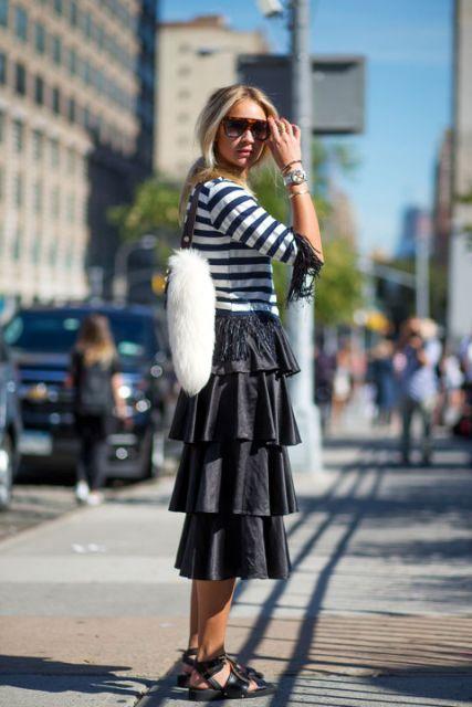 street style com saias pretas