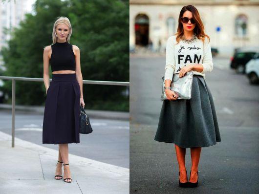 ideias para usar street style com saia