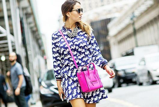 street style vestido estampado
