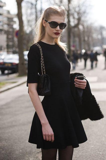 moda all black street style