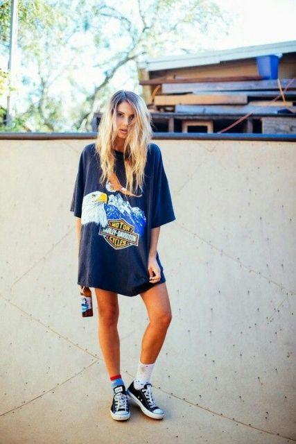 exemplo de t-shirt feminina camisetão