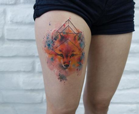 exemplo de tatuagem aquarela paulo victor