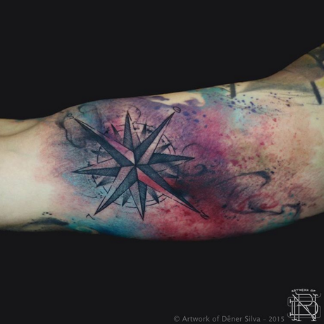 exemplo de tatuagem aquarela dêner silva