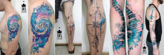 exemplo de tatuagem aquarela rodrigo tas
