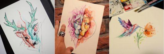 exemplo de tatuagem aquarela kelvin gabriel