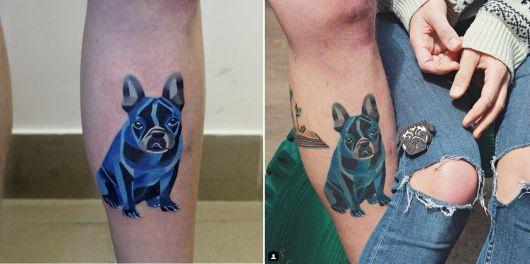 exemplo de tatuagem aquarela após 14 semanas