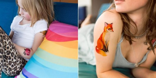 exemplo de tatuagem aquarela sasha unisex