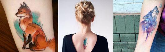 exemplo de tatuagem aquarela aga yadou