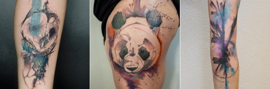 exemplo de tatuagem aquarela niko inko