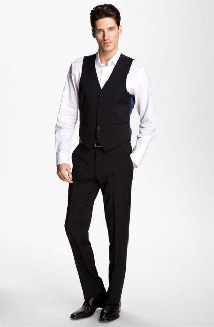 terno sem gravata e colete como usar