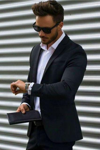 terno sem gravata estilo casual