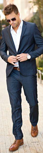 terno slim fit masculino aberto moderno