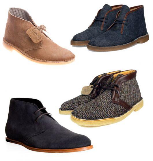tipos de desert boot masculina