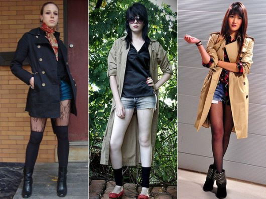 trench coat com short