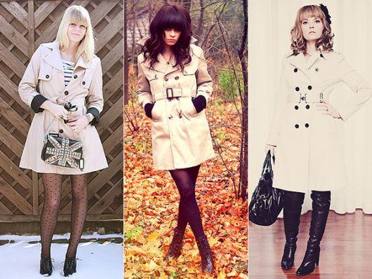 trench coat como vestido