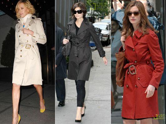 trench coat famosas