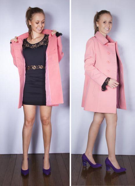 trench coat rosa