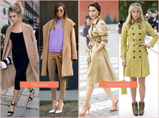 trench coat tipos