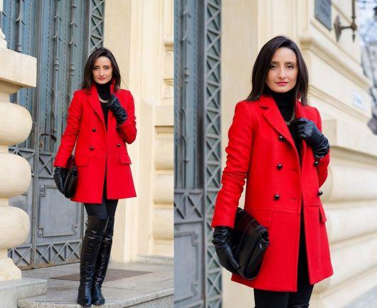 trench coat vermelho