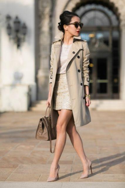 trench coat vestido
