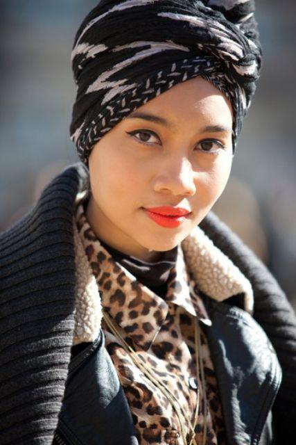 como usar turbante no look inverno