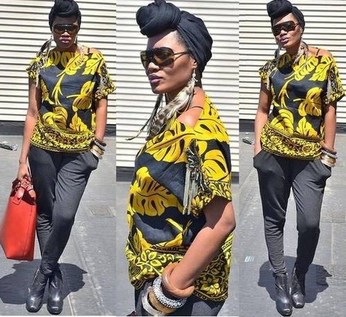 como usar turbante estilo africano