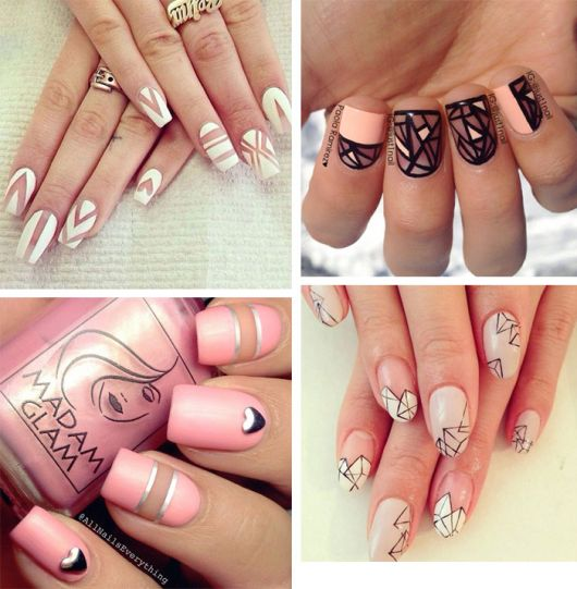 unhas decoradas fáceis de fazer manicure negativa