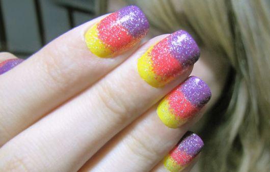 unhas decoradas fáceis de fazer várias com esponja cores