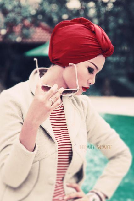 como usar turbante vermelho