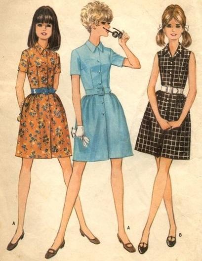 vestido com cinto - anos 50