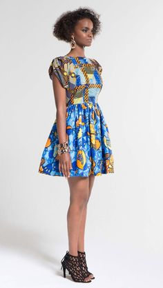 vestido curto na moda africana