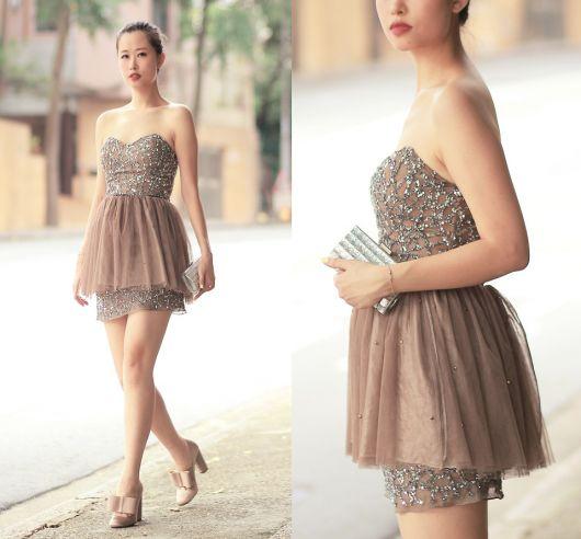 vestido de formatura curto 1 nude
