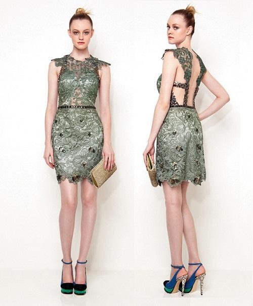 vestido de formatura curto 10 com renda