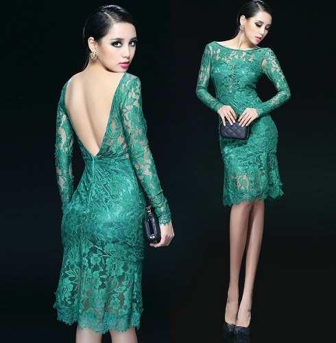 vestido de formatura curto 13 verde