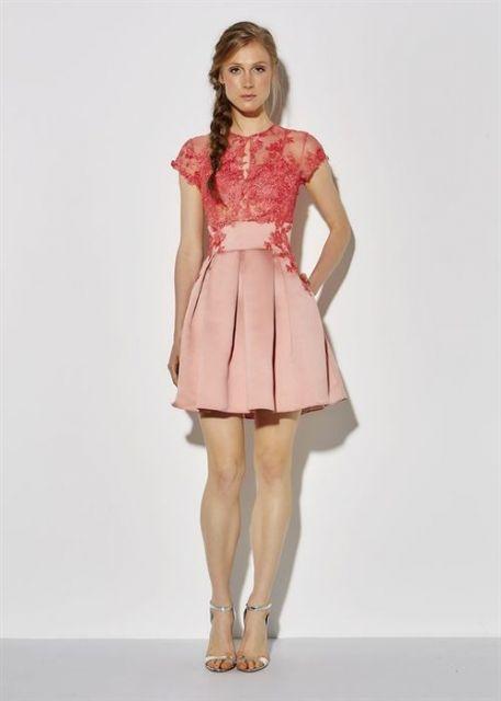 vestido de formatura curto 18 rosa
