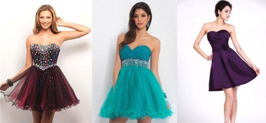 vestido de formatura curto 25 vestido tomara que caia