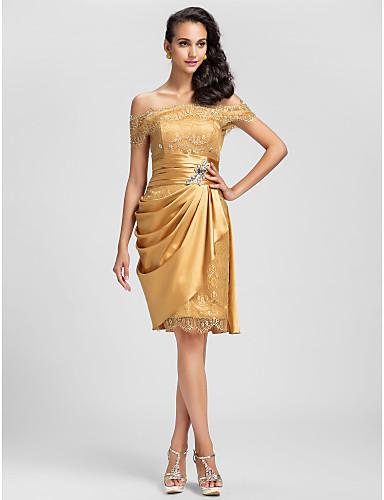vestido de formatura curto 28 ombros de fora